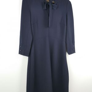 Blue Navy Dress Bow Front (2)