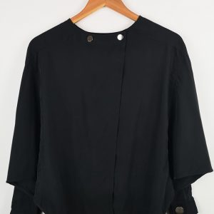 Stradivarius - Women Black Blouse with a dolman sleeves (1)