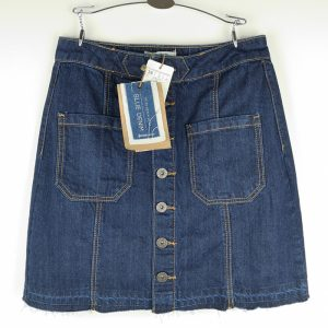 mini skirt denim indigo front pockets - Stradivarius (1)