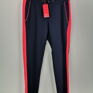 Women Sport Pants blue navy with red line (1)